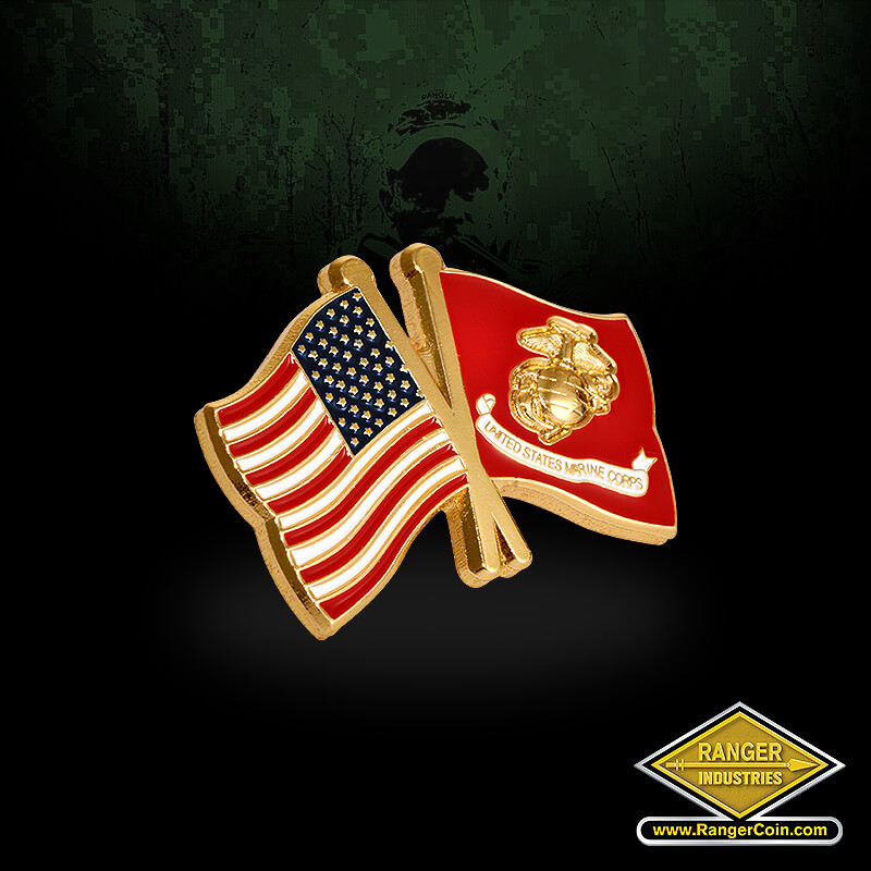 USA USMC Flags - American flag, USMC flag, EGA, United States Marine Corps