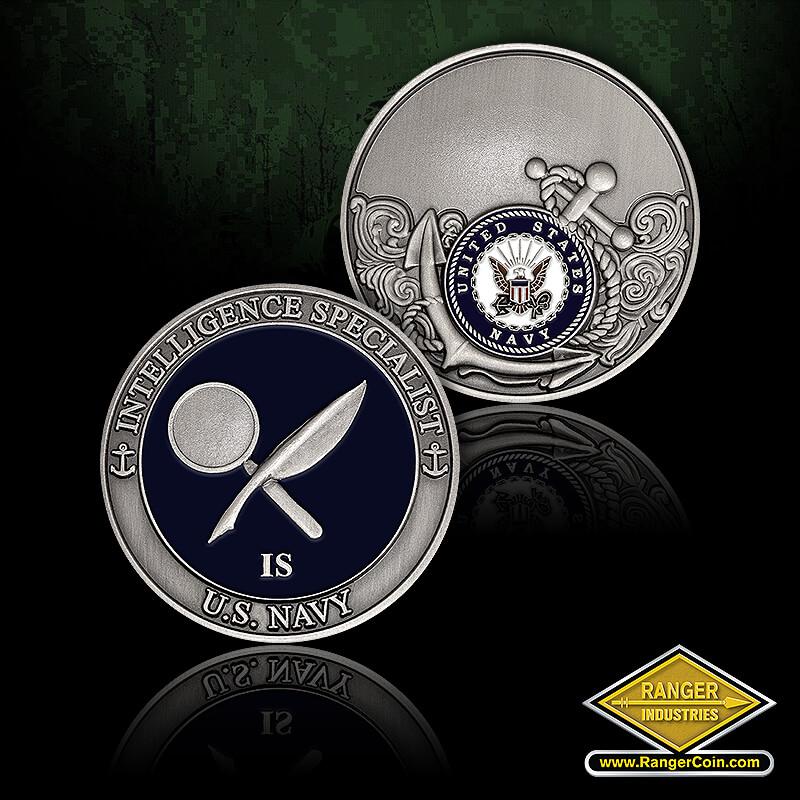 USN Intell Spec - Intelligence Specialist, U.S. Navy, United States Navy, engravable