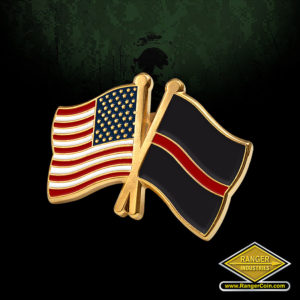 SC-5446 AFD Thin Red Line Crossed Flags