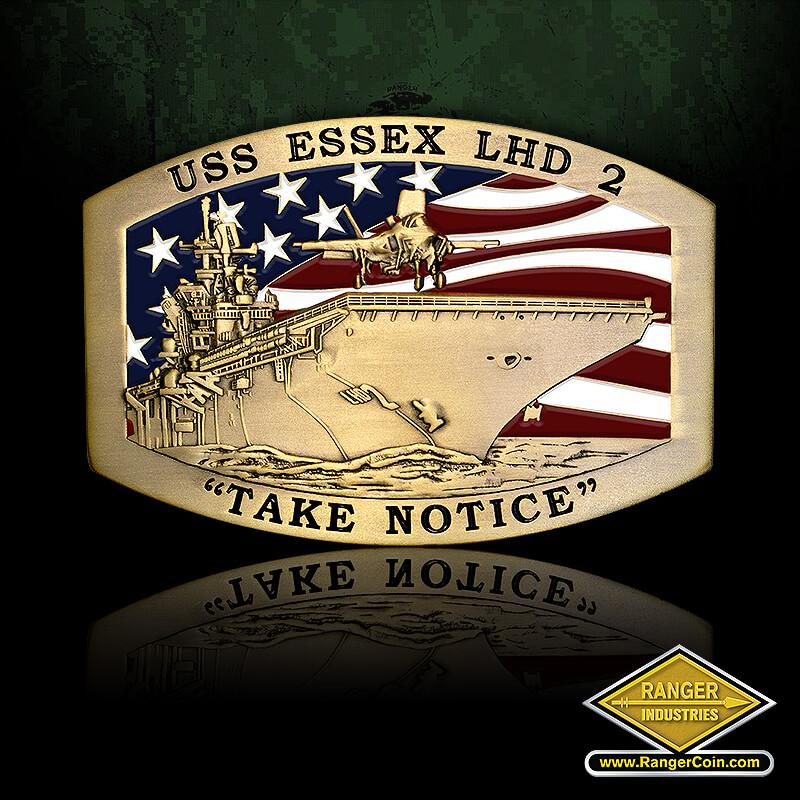 USS Essex – brass - USS Essex LHD 2, Take Notice,