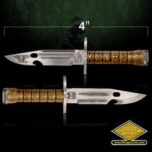 SC-0729 154th RTI M9 Leadership 3D bayonet coin