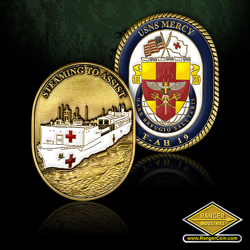 USNS Mercy Ship coin