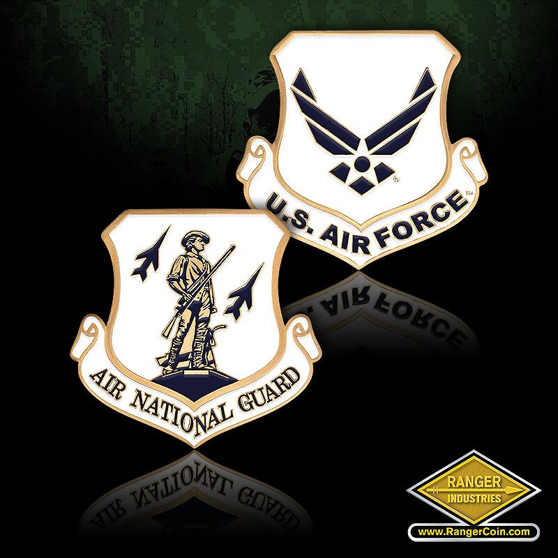 Air Force ANG Enamel - Air National Guard, USAF, U.S. Air Force
