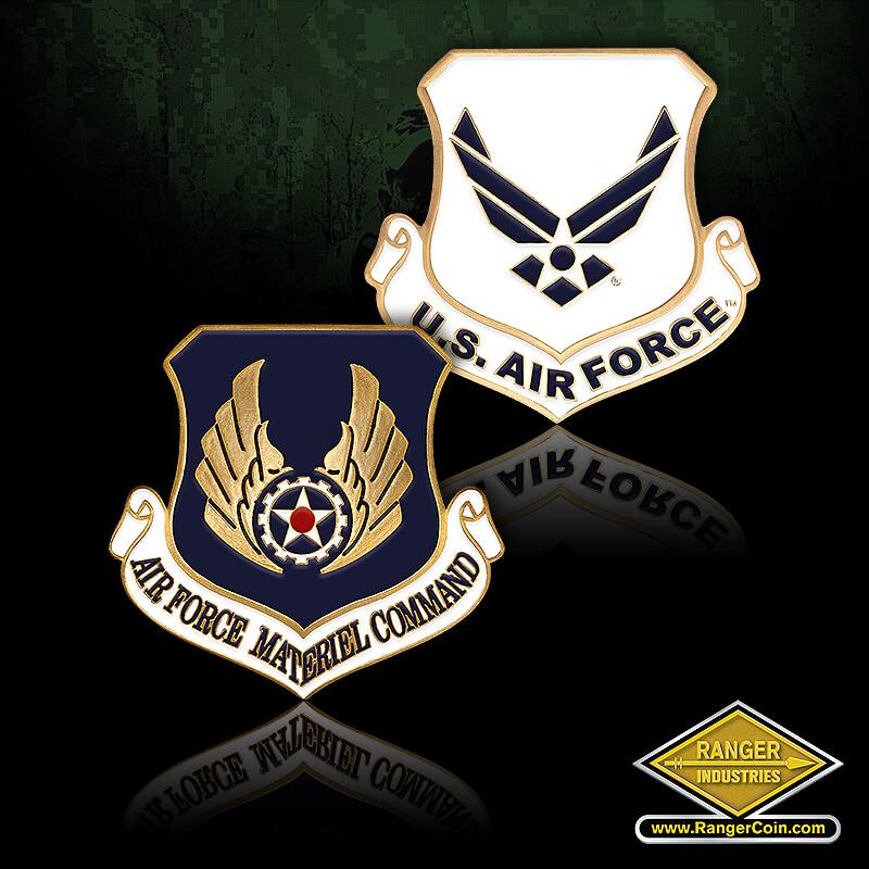 Air Force Materiel CMD Enamel - Air Force Materiel Command, USAF, USAF, U.S. Air Force