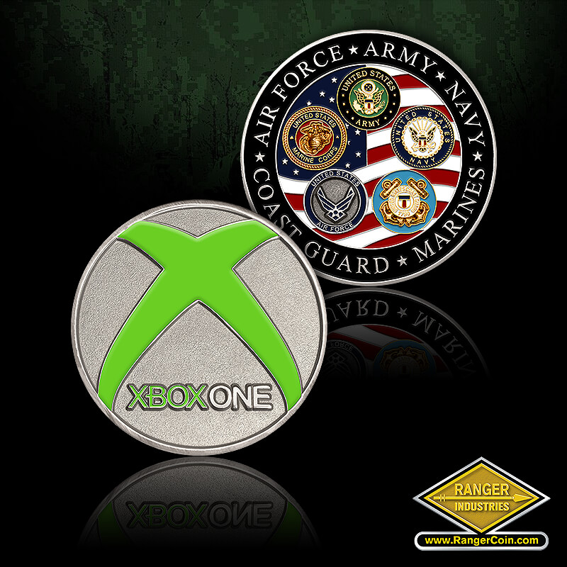 Xbox Military coin - XBOXONE, ARMY, NAVY, MARINES, COAST GUARD, AIR FORCE