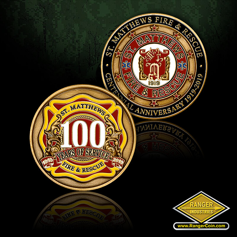 St. Matthews Fire 100th Anniversary - St. Matthews Fire & Rescue, Centennial Anniversary 1919-2019, St. Matthews Fire & Rescue, 100 Years of Service, 1919 2019