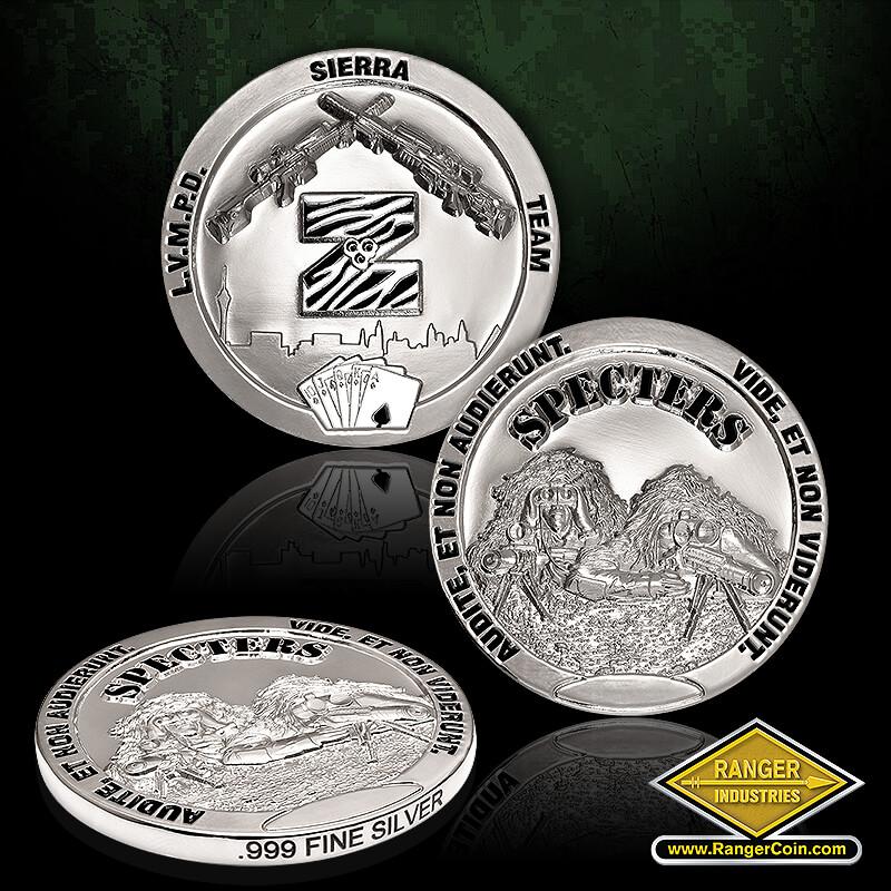 Las Vegas SWAT Coins – silver