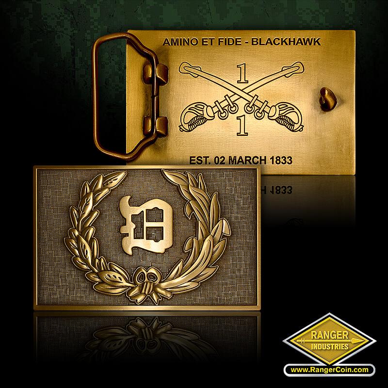 1-1 Cavalry - Amino Et Fide - Blackhawk, 1-1 Cavalry, Est. 02 March 1833,
