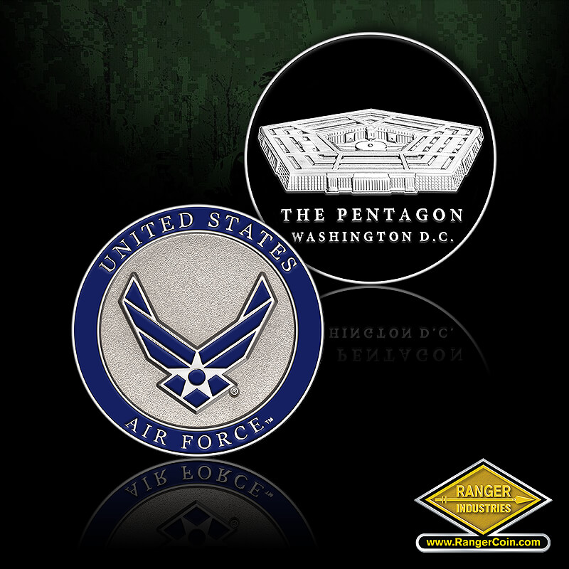 AIR FORCE ROUND PENTAGON COIN