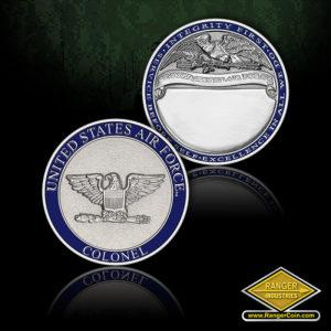 SC-1013 AIR FORCE COLONEL ENGRAV COIN