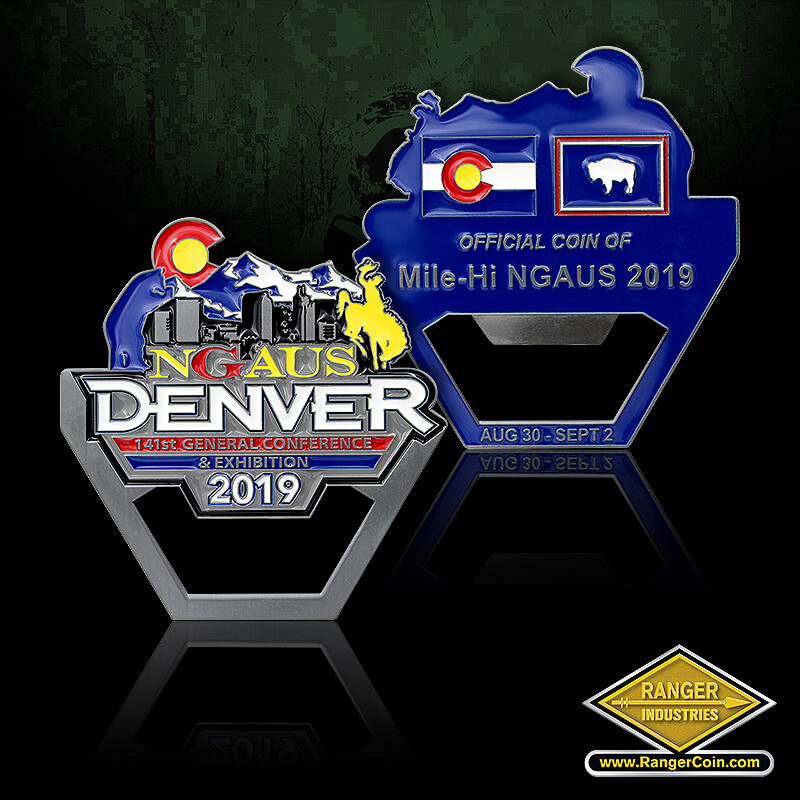 NGAUS Denver 2019 - NGAUS Denver, 141st General Conference & Exhibition, 2019, Official Coin of Mile-Hi NGAUS 2019, Aug 30 - Sept 2