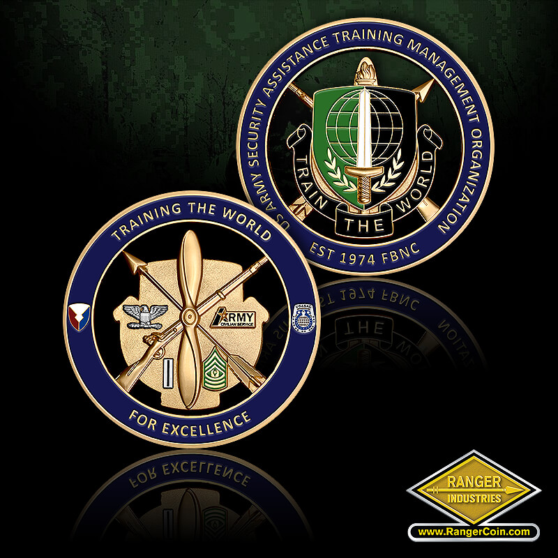 SATMO BDE - Training the World For Excellence, US Army Security Assistance Training Management Organization, EST 1974 FBNC, Train the World