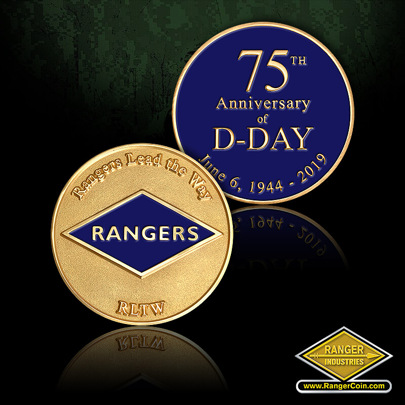 Black Dagger - Rangers Lead the Way, Rangers RLTW, 75th Anniversary of D-Day, June 6, 1944-2019
