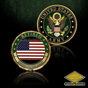 SC-1221 U.S. Army Retired Coin