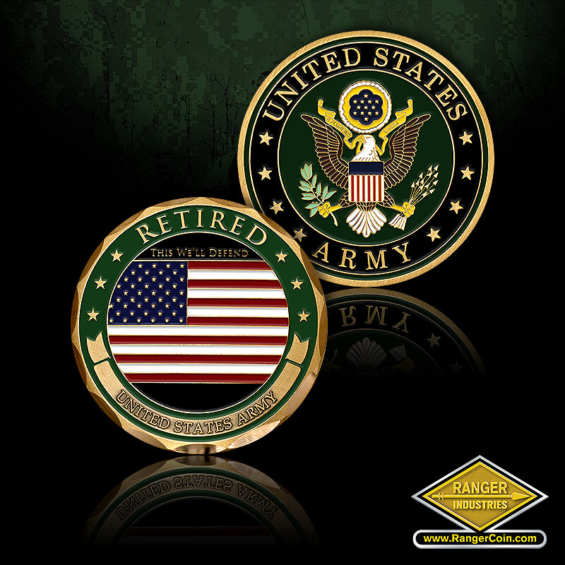 U.S. Army Retired Coin