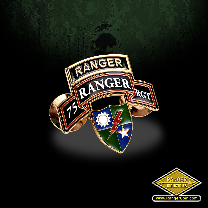 Ranger 75TH REGT lapel pin