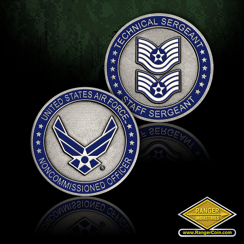 Tech Sergeant-Staff Sergeant - United States Air Force, Noncommissioned Officer, Technical Sergeant, Staff Serfeant