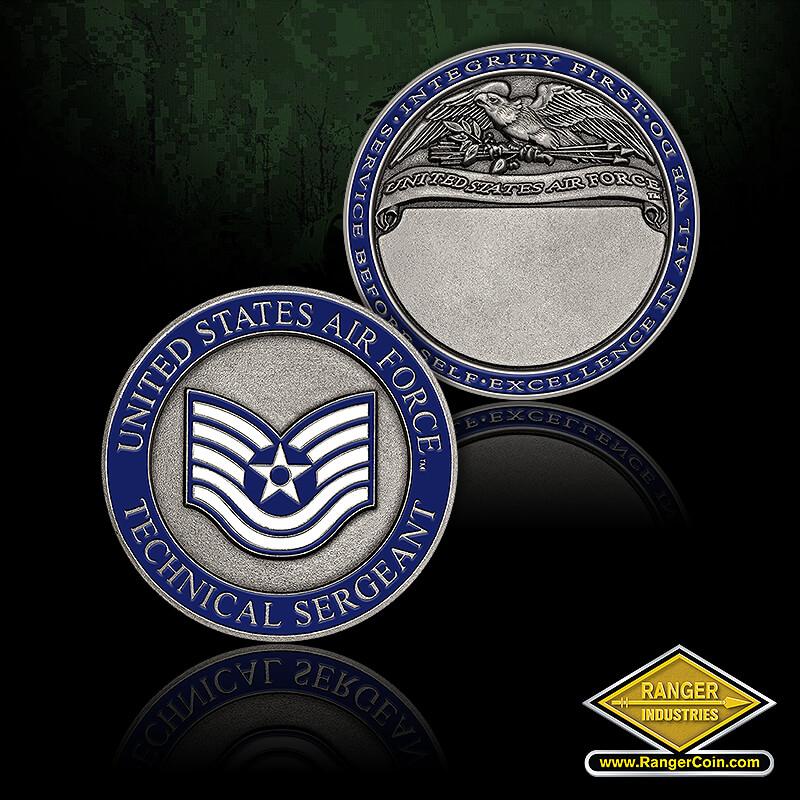 USAF Tech Sgt Engravable