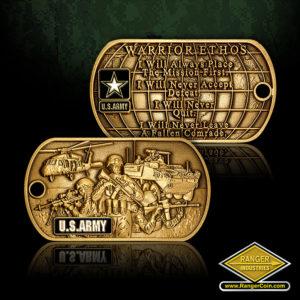 SC-6249 U.S. Army Warrior Ethos Dog Tag