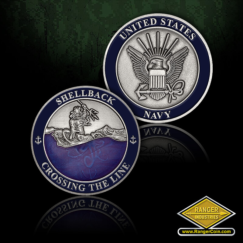 Navy Shellback Coins - Shellback Crossing the Line, United States Navy