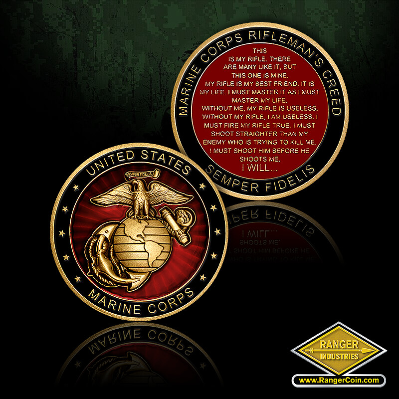 USMC Rifleman's Creed Coin
