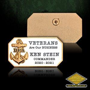 SC-6387 VFW Pacific Area New Commander pin