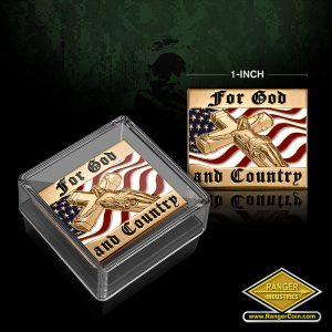 SC-3417 For God and Country Lapel Pin