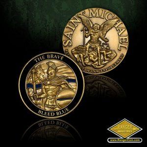 SC-6375  St. Michael/Brave Bleed Blue Coins