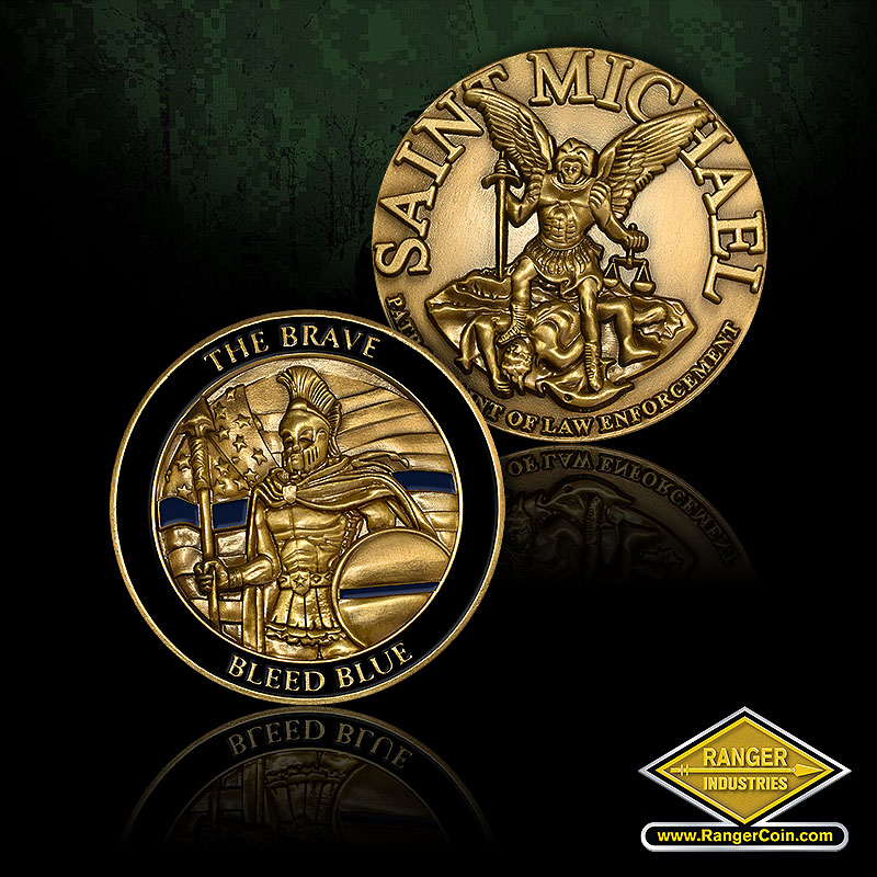 St. Michael/Brave Bleed Blue Coins