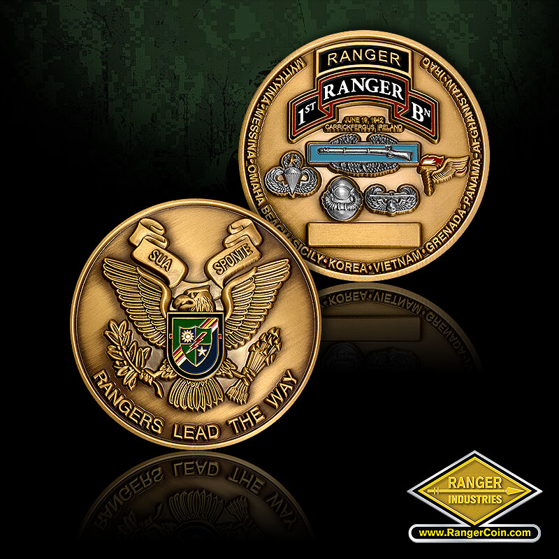 1st Ranger Battalion Coins