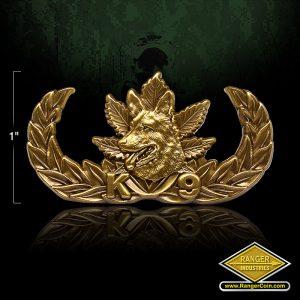 SC-3516 K9 Narcotics Pin Antique brass