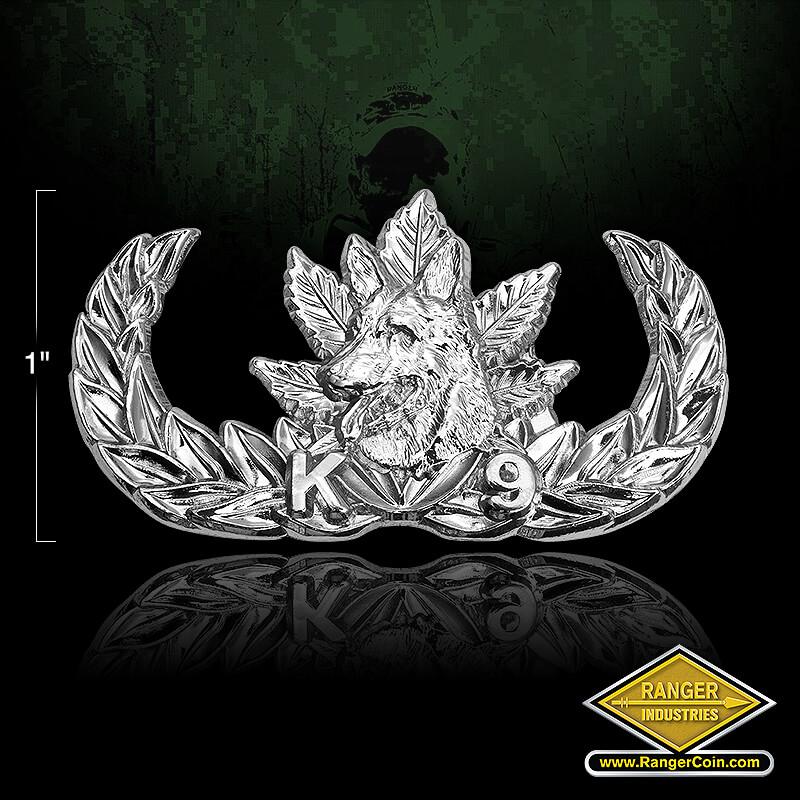 K9 Narcotics Pin Shiny silver - K9, Dog