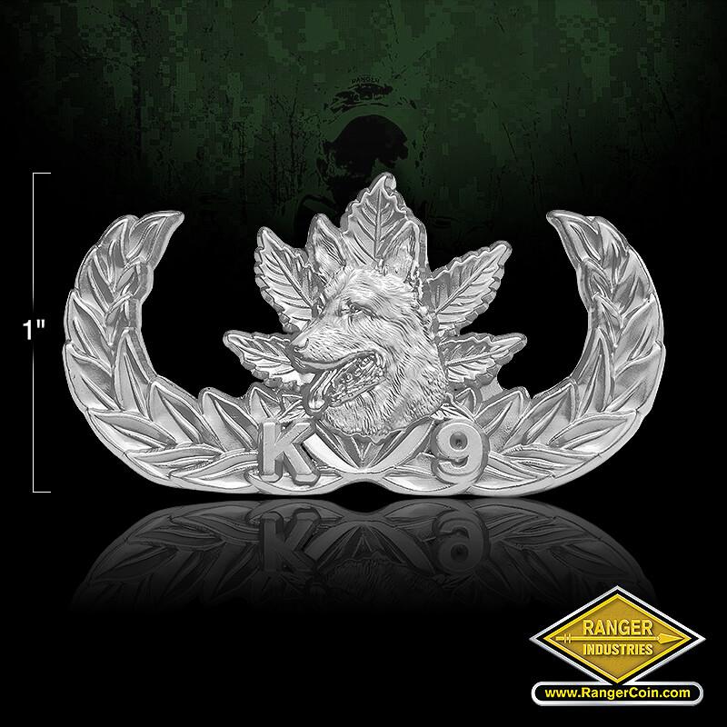 K9 Narcotics Pin Matte silver