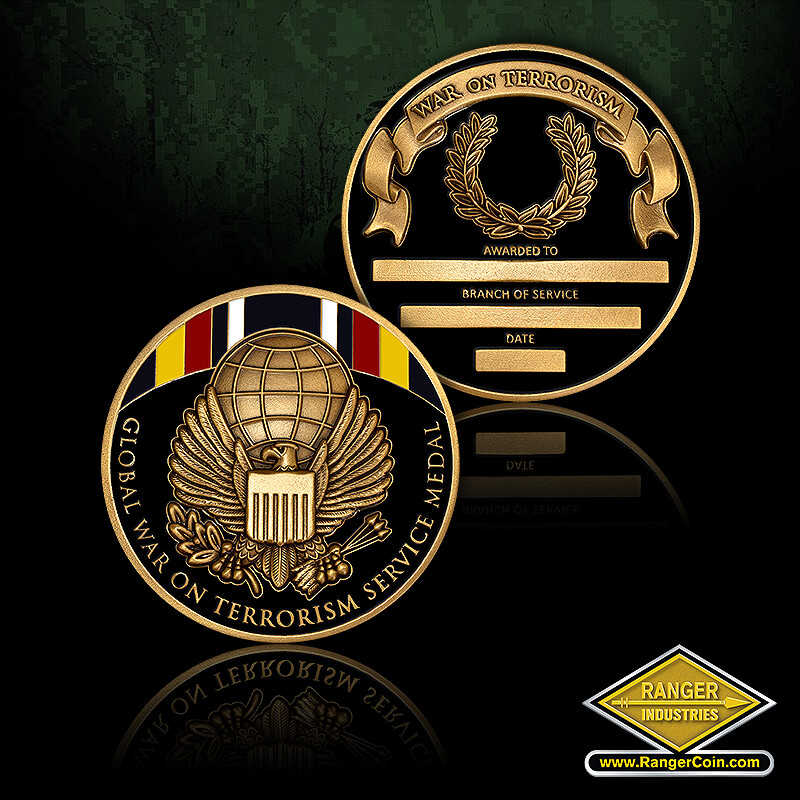 RI-13081 Global War on Terrorism Service Medal Coin - Global War on Terrorism Service Medal, War on Terrorism