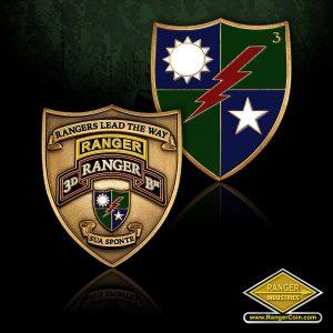 3D Ranger Battalion Crest Coin