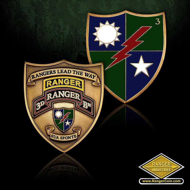 3D Ranger Battalion Crest Coin - 3D Ranger BN, Rangers Lead the Way