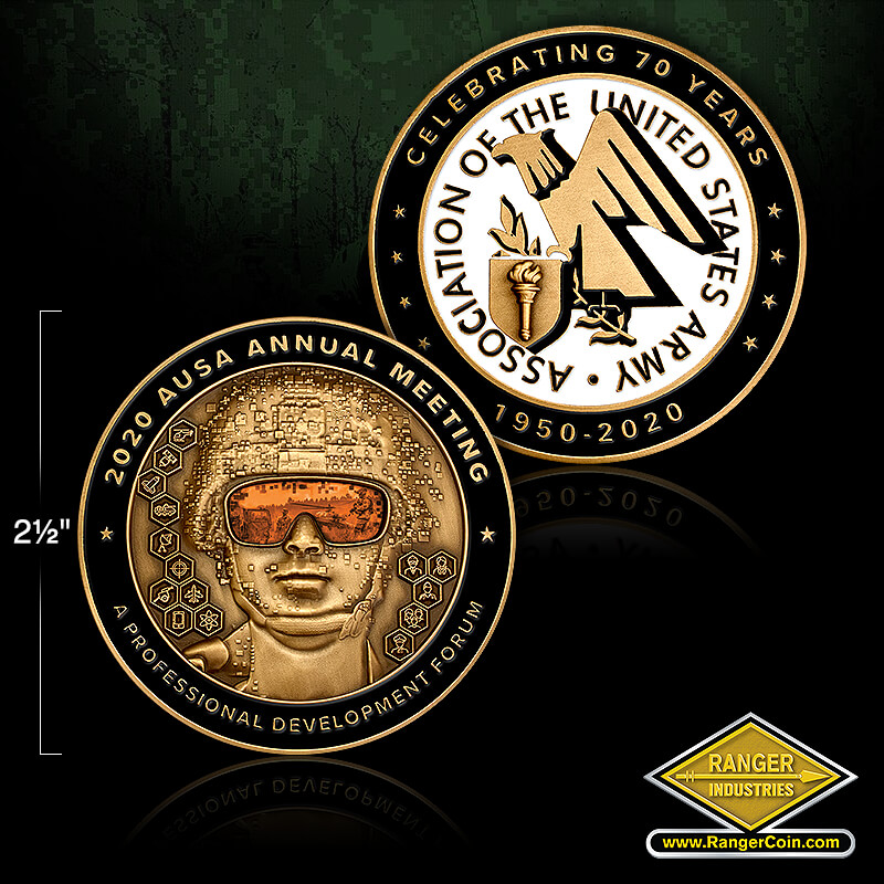 AUSA 2020 annual meeting coin - 2020 AUSA Annual Meeting, Celebrating 70 Years