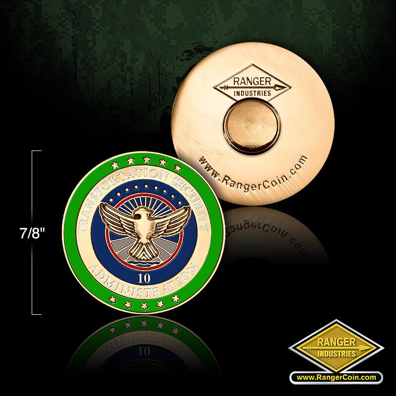 TSA 10 year service pin