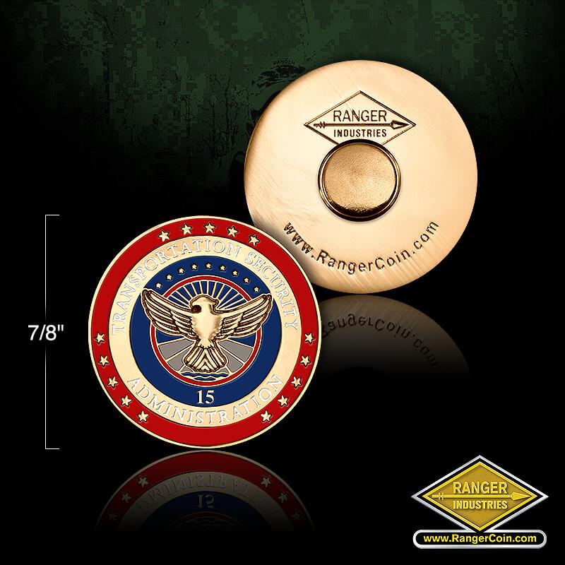 TSA 15 year service pin