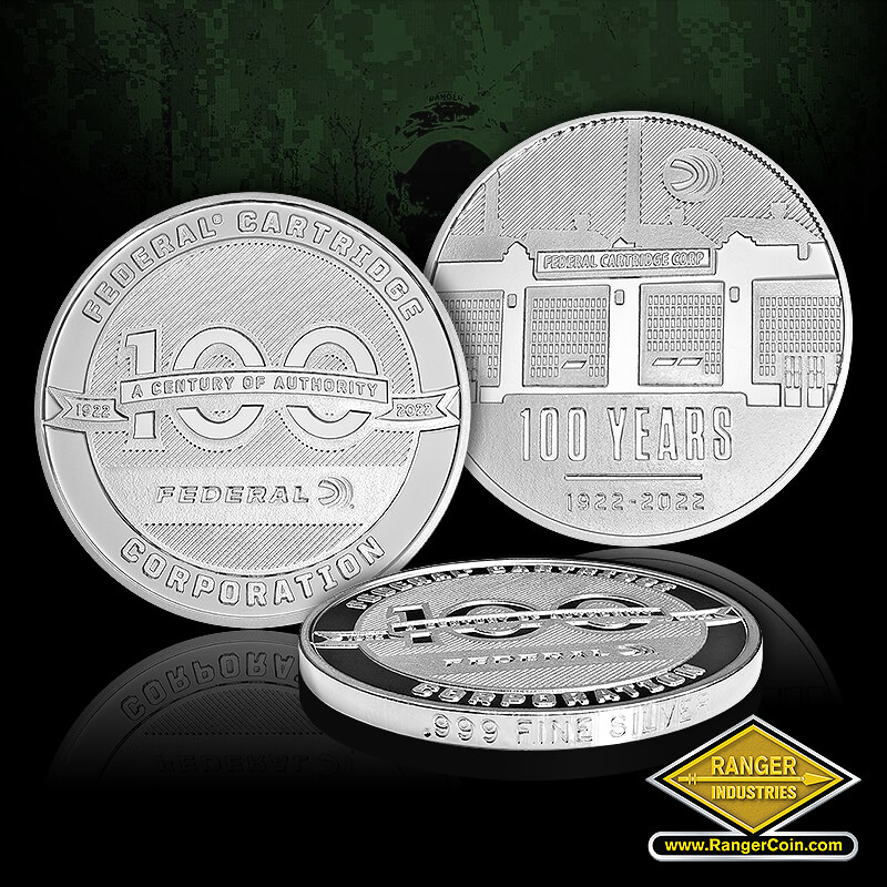 Federal Ammo Anniversary Coins - Federal Cartridge Corporation A Century of Authority, 100 Years