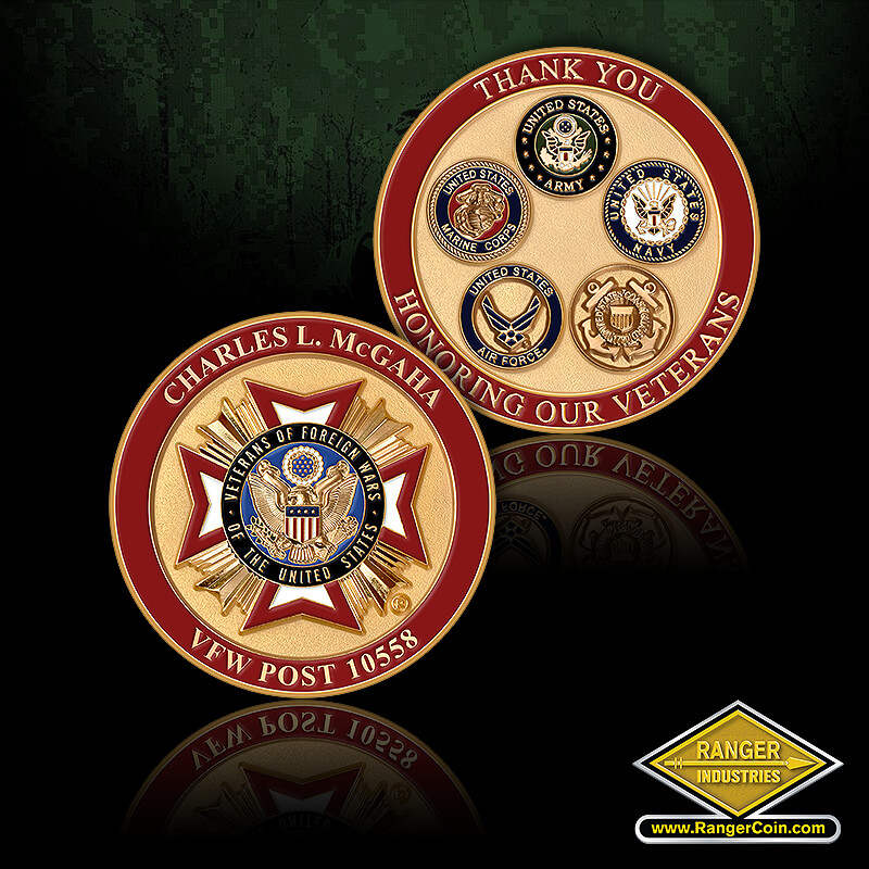 VFW Post 10558 Veteran Coin