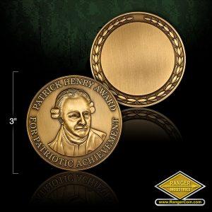 SC-6658 MOWW Patrick Henry Medallion Antique Bronze