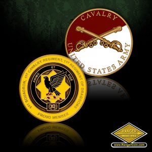 1-1 CAV red - Regiment of Dragons, United States Army Cavalry