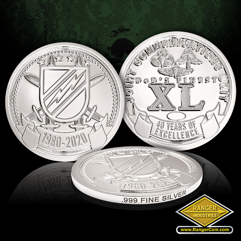 JCU 40th Anniversary Coins- pure silver - JCU, Join Communications Unit
