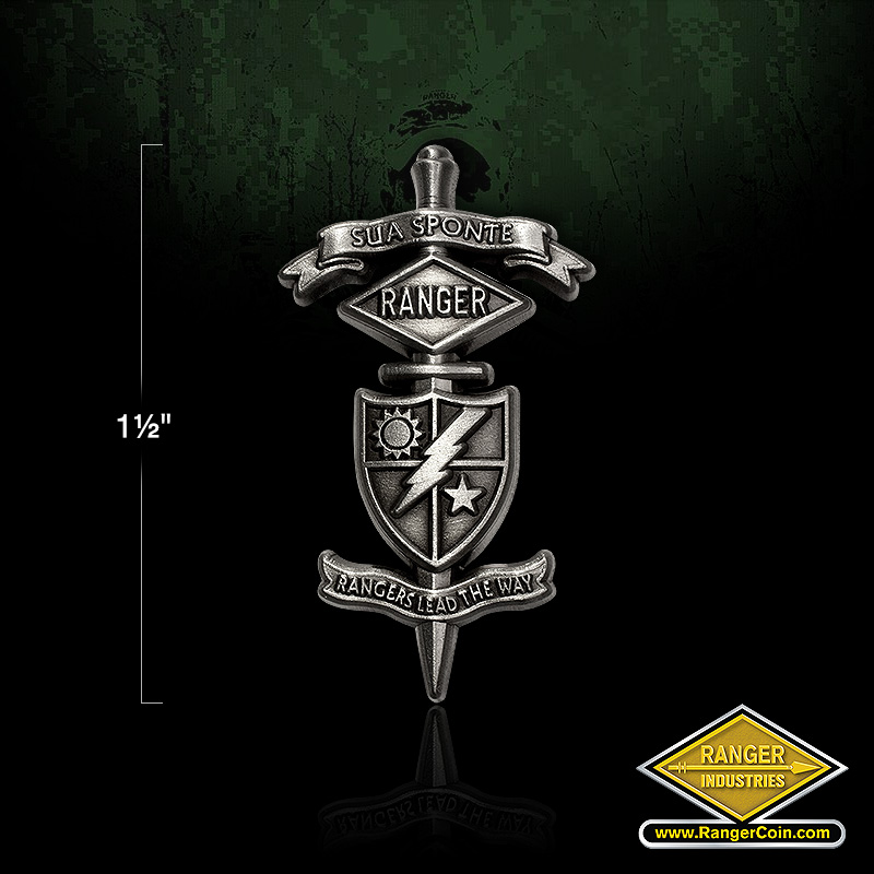 Ranger Dagger Lapel pin - Sua Sponte Rangers Lead the Way