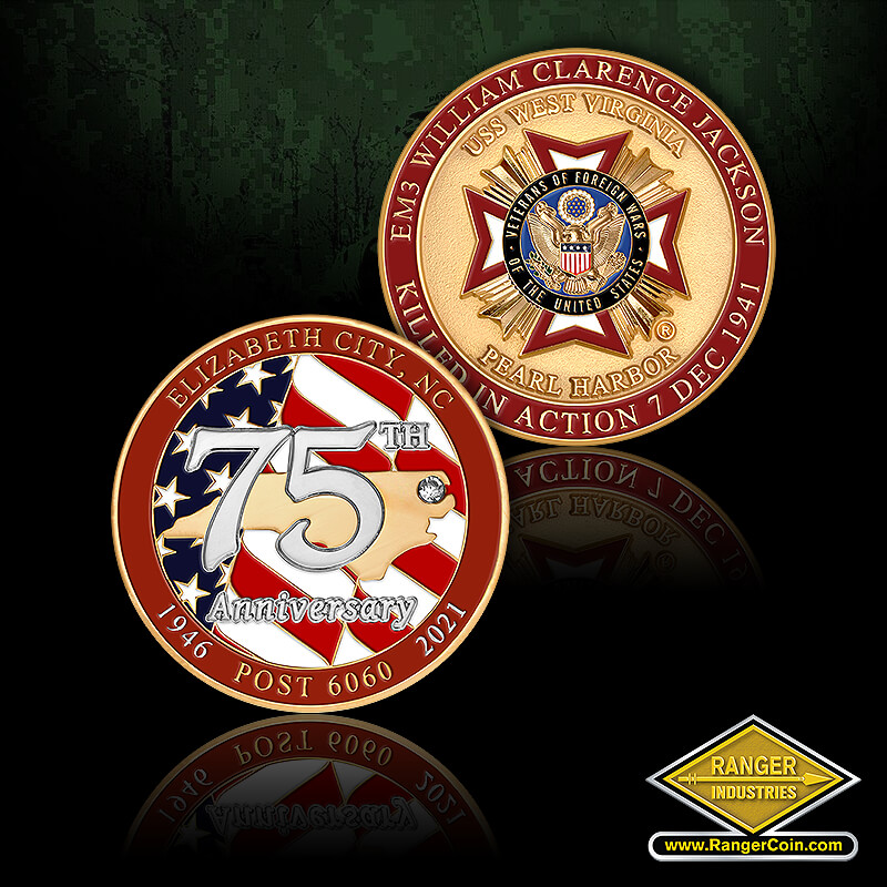 VFW Post 6060 75th Anniversary Coins