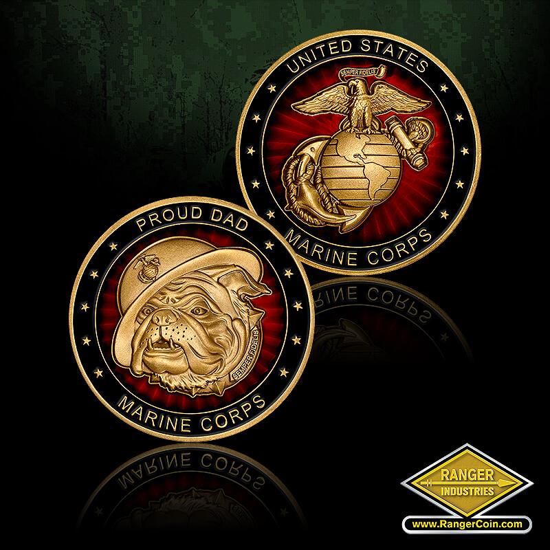 RA0060 Marine Dad - Proud Dad, Marine Corps, EGA
