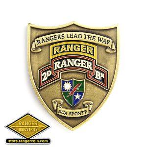 2nd Ranger Battalion Crest Coin Obverse - 2D Ranger BN, Second Ranger Battalion