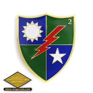 2nd Ranger Battalion Crest Coin Reverse