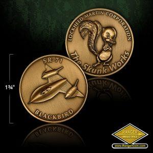 RZ0040 SR71 Skunk Works Coin